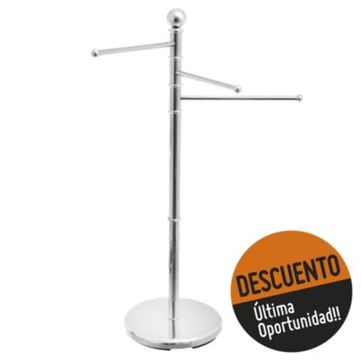 Perchero pie cromado 36 x 91 x 28 cm