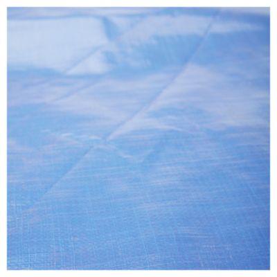 Rafia laminada azúl/plateado 2 m