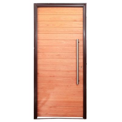 Puerta de madera maciza derecha para exterior n - Puertas de exterior madera ...
