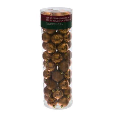 Esferas 8 cm doradas x 50 unidades