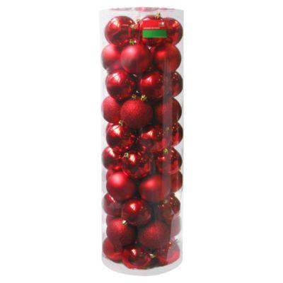 Esferas 8 cm rojas x 50 unidades
