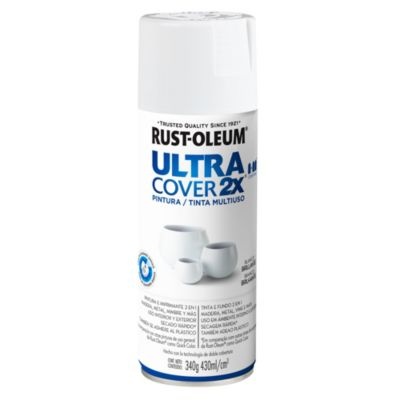 Pintura en aerosol multiuso Ultra Cover 2x blanco brillante 340 g