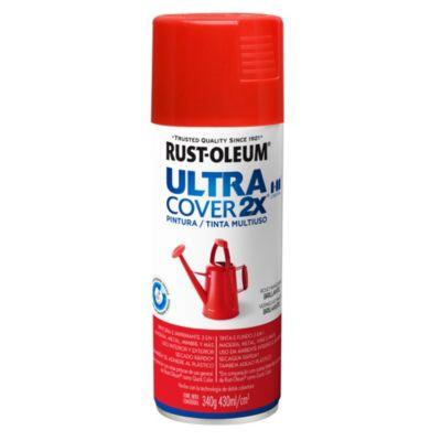 Pintura en aerosol multiuso Ultra Cover 2x rojo manzana brillante 340 g