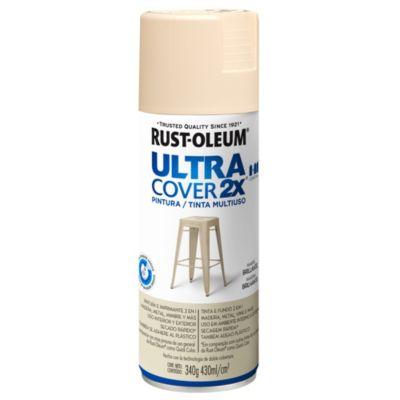 Pintura en aerosol multiuso Ultra Cover 2x marfil brillante 340 g