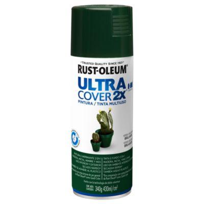 Pintura en aerosol multiuso Ultra Cover 2x verde oscuro brillante 340 g