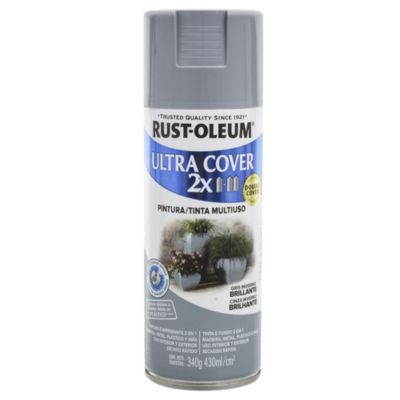 Pintura en aerosol multiuso Ultra Cover 2x gris invierno brillante 340 g