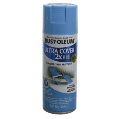 Pintura en aerosol multiuso Ultra Cover 2x azul Spa brillante 340 g
