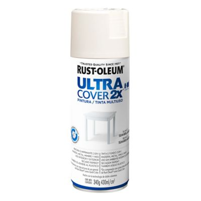 Pintura en aerosol multiuso Ultra Cover 2x blanco semi brillante 340 g