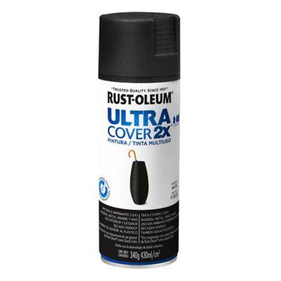 Pintura en aerosol multiuso Ultra Cover 2x negro mate 340 g