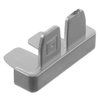 Terminal tapacanto mate por 12 u aluminio