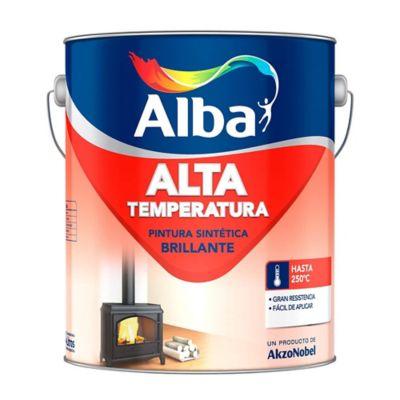 Pintura sintética alta temperatura aluminio 0.5 l