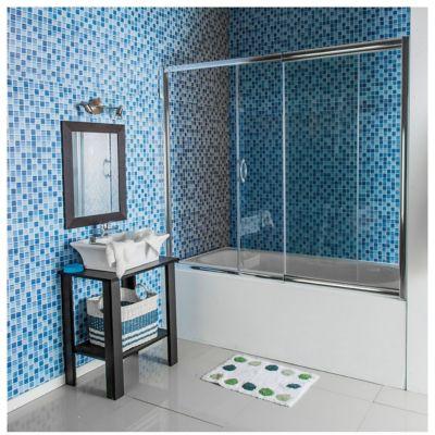 Mampara sobre bañera ajustable 150/170 x 150 cm