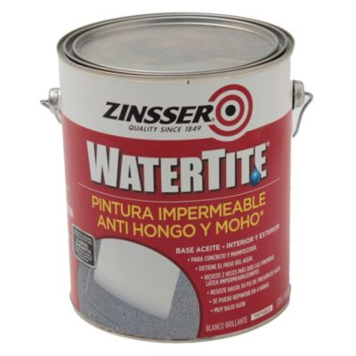 Pintura hidrófuga watertite zinsser 3.785 l