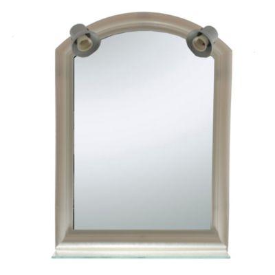 Espejo de baño 46 x 65 cm con repisa dos luces