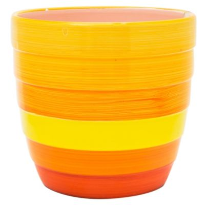 Maceta cerámica colores 17 cm