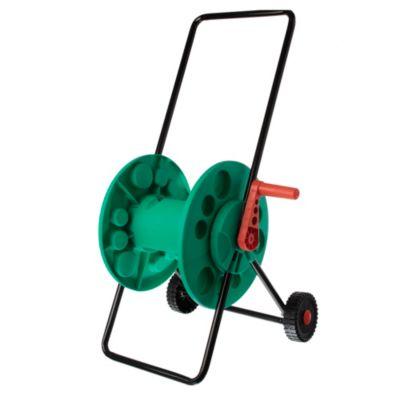 Enrollador de manguera con rueda