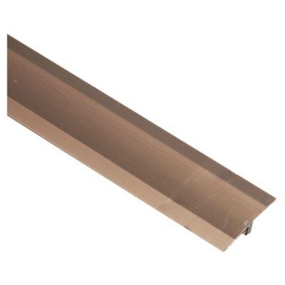 Unión T Aluminio Anodizado Bronce