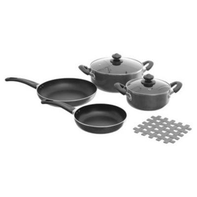 Batería de cocina 7 piezas silver mate