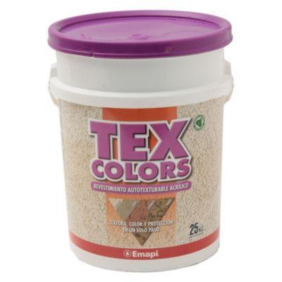 Revestimientos texturado exterior tex color paris tiza 25 kg
