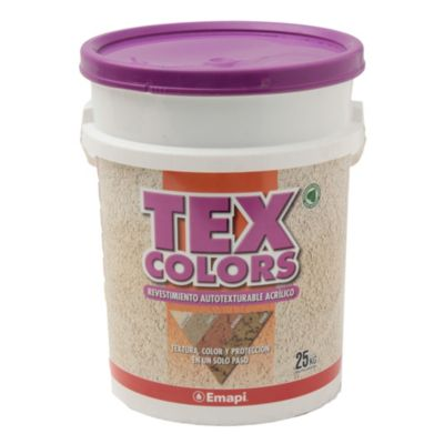 Revestimiento texturado exterior tex color paris terracota 25 kg