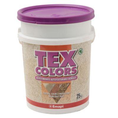Revestimientos texturado exterior tex color milano blanco 25 kg