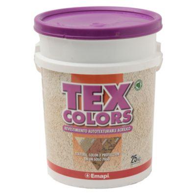 Revestimientos texturado exterior tex color milano tiza 25 kg