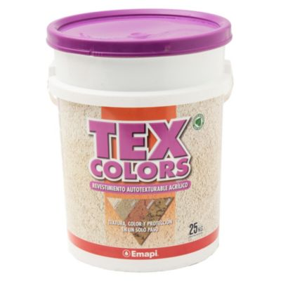 Revestimiento texturado exterior tex color milano terracota 25 kg