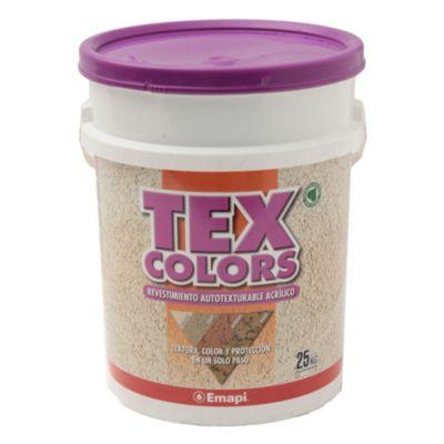 Revestimiento texturado exterior tex color rabat cacao 25 kg