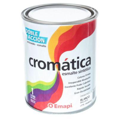 Esmalte sintético cromática blanco brillante 1 l