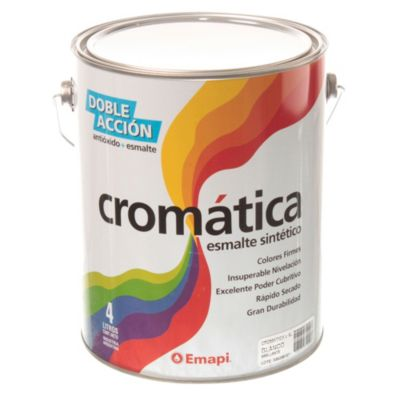 Esmalte sintético cromática blanco brillante 4 l