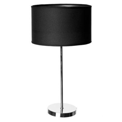 Lámpara de mesa una luz pantalla de tela negra E27