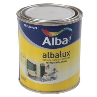 Esmalte sintético brillante Albalux aluminio 0.25 l