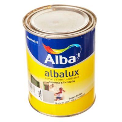 Esmalte sintético brillante Albalux aluminio 0.5 l