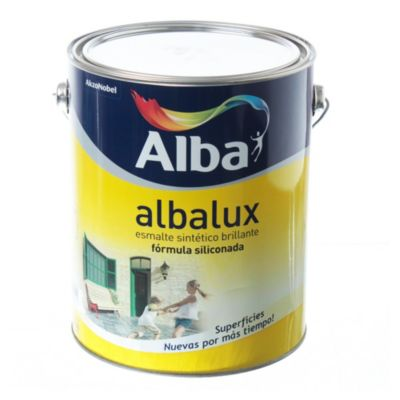 Esmalte sintético brillante Albalux aluminio 4 l