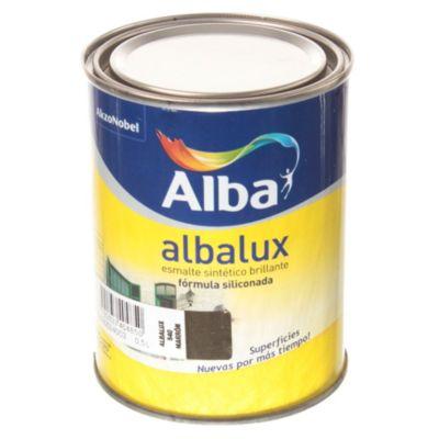 Esmalte sintético brillante Albalux marrón 0.5 l