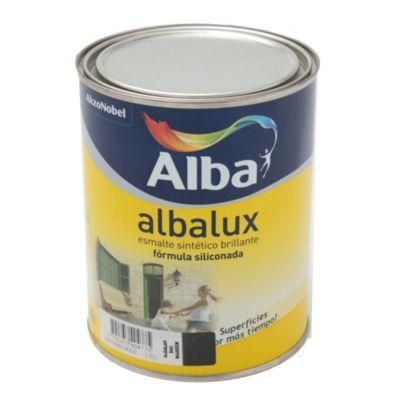 Esmalte sintético brillante Albalux marrón 1 l
