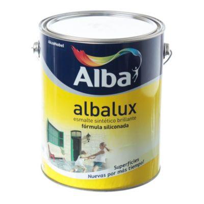 Esmalte sintético brillante Albalux marrón 4 l