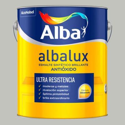 Esmalte sintético brillante Albalux gris hielo 1 l