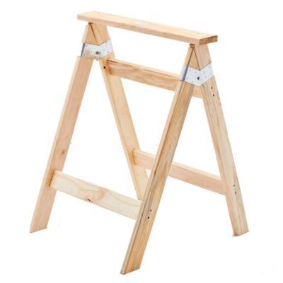 Caballete de madera de pino 58 x 64 x 2.5 cm
