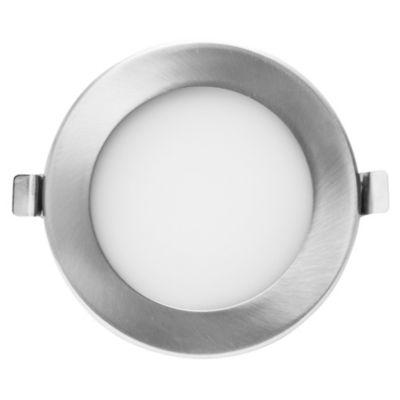 Spot embutdo uno luz deco redonda níquel satinado 9w