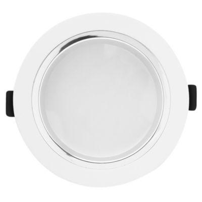 Spot embutdo uno luz deco redonda níquel satinado 5w