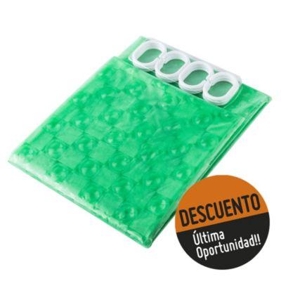 Cortina para baño PVC 3d 180 x 180 cm verde