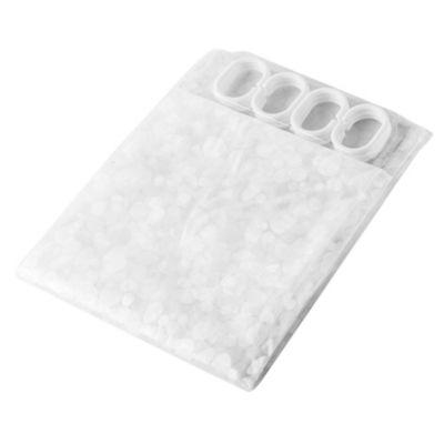 Cortina para baño PVC 3d 180 x 180 cm transparente