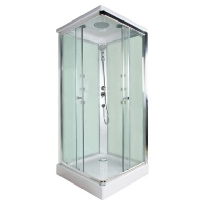 Cabina de ducha cuadrada 6 jets verde