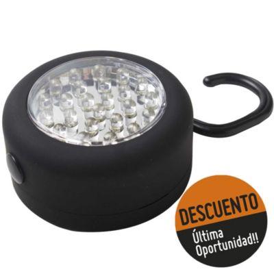 Luz portátil 24 LED con imán y gancho