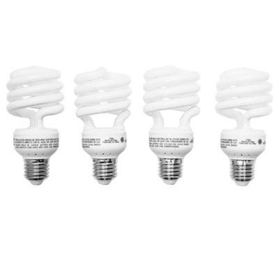 Lámpara bajo consumo helicoidal 23 w cálida pack por 4 u