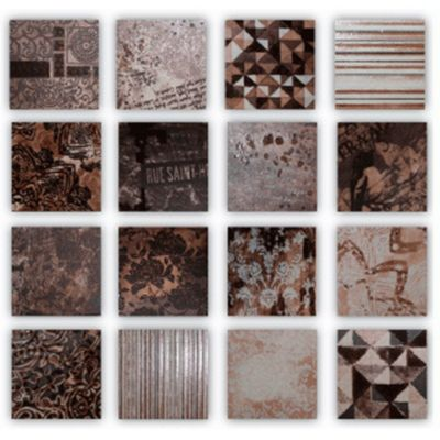 Piastrelle patch chocolate 10 x 10 0.16 m2