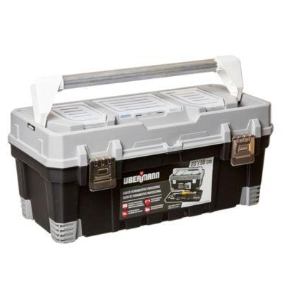 Caja de herramientas plástica profesional con organizador de brocas