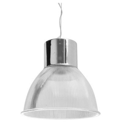 Lámpara de techo colgante una luz cromo-blanco e27