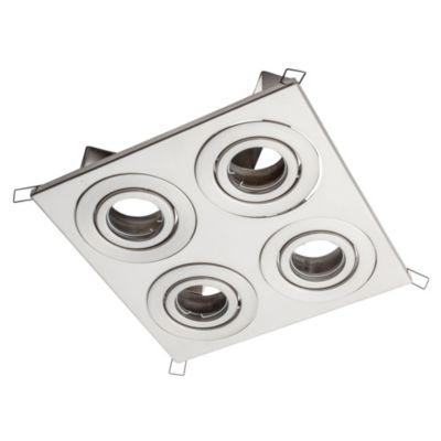 Embutido de techo cuatro luces cardánico acero ar111